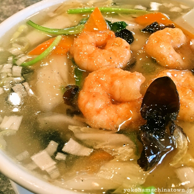 愛群の蝦仁湯麺