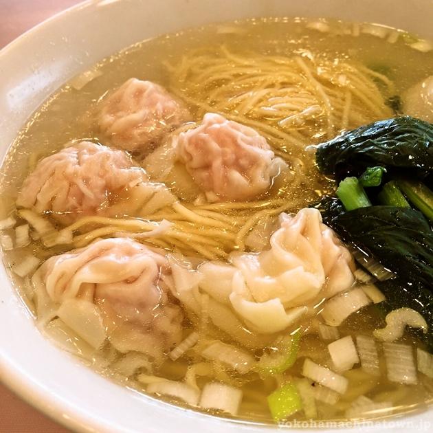 萬来亭の雲呑麺