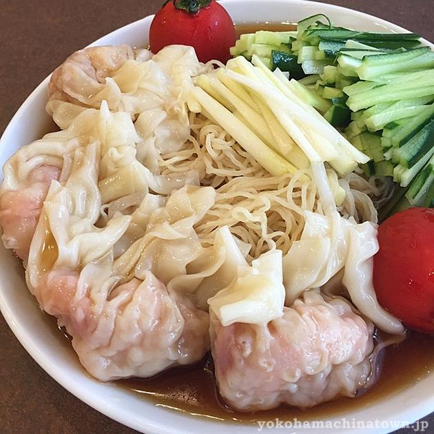 南粤美食の冷し海老雲吞麺