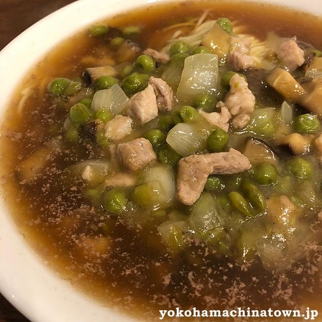 新海員閣の青豆肉丁麺